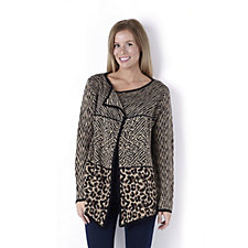 Absolutely Famous Multi Animal Jacquard Cardigan