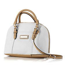 Tignanello Preppy Classic Pebble Leather Convertible Dome Satchel Bag