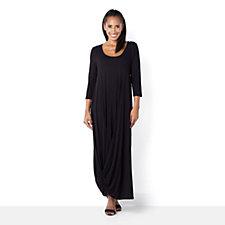 Join Clothes Jersey Drape Hem Maxi Dress