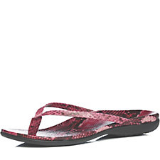 Vionic Orthotic Corfu Leather Flip Flop with FMT Technology
