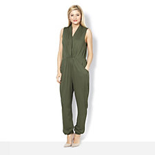 The Lisa Rinna Collection Banded Bottom Knit Jumpsuit