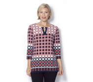 Printed Key Hole Tunic by Susan Graver