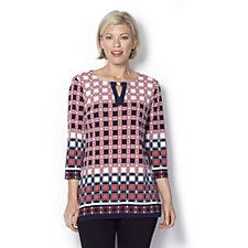 160178 - Printed Key Hole Tunic by Susan Graver