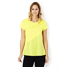 H by Halston Engineered Colour Block Top