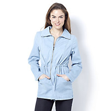 Denim & Co. Long Sleeve Drawstring Waist Jacket
