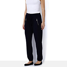 Nick Verreos Relaxed Jersey Trouser with Faux Zip Pockets