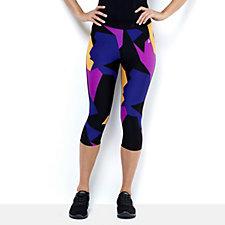 Purelime Illusion Activewear Capri Pants