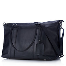 Amanda Lamb Large Leather Holdall Bag with Adjustable Strap