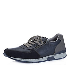 Rieker Men's Leather Lace Up Trainer