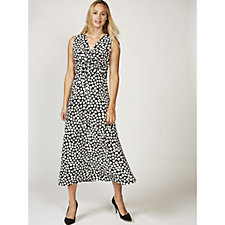 Grace Twist Knot Spot Print Maxi Dress