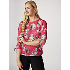 Betty & Co Floral Print 3/4 Sleeve Blouse