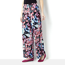 Florence Print Elasticated Waist Wide Leg Trouser by Michele Hope