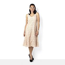 Tiana B Lace Princess Seam Fit & Flare Dress
