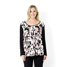 Fashion by Together Watercolour Floral Print Tunic
