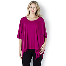 Join Clothes Scoop Neck Jersey Panel Top