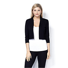 Ronni Nicole 3/4 Sleeve Pointelle Shrug