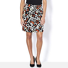 Nick Verreos Multi Printed A-Line Skirt