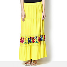 160779 - Antthony Designs Embroidered Tiered Skirt