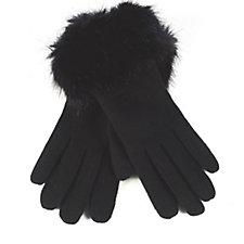 Pia Rossini Monroe Faux Fur Trim Gloves