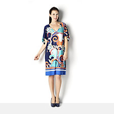 Ronni Nicole Sleeveless V Neck Printed Shift Dress