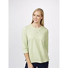 Denim & Co. 3/4 Sleeve Knit Top