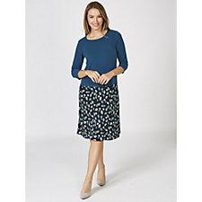 Kim & Co Brazil Knit 3/4 Sleeve A Line Dress