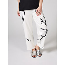 MarlaWynne Crepe Graphic Print Crop Trousers