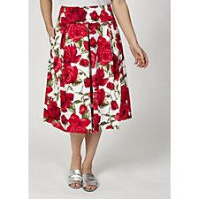 Helene Berman A-Line Floral Print Skirt