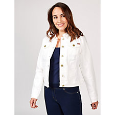 Isaac Mizrahi Live True Denim Cropped Denim Jacket