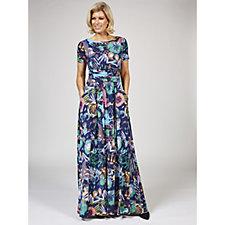 Joni Astro Print Maxi Dress by Onjenu London