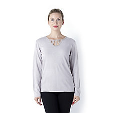 Cashmasoft Beaded Neck Insert Top