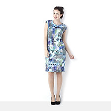 Tiana B Floral Weave Shift Dress