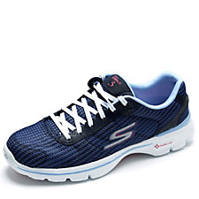 Skechers GOwalk 3 FitKnit Lace Up Trainer with GO Pillars