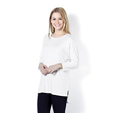 Mr Max Long Sleeve Round Neck Top with Hem Detail