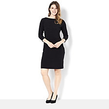 Tiana B Jersey Dress with Ruched Side Detail