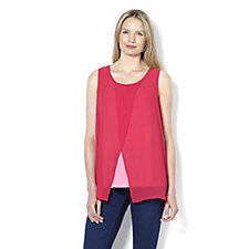 160180 - Chiffon Overlay Top by Susan Graver