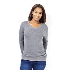 Anybody Loungewear High Low Brushed Hacci Sweatshirt