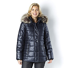 Centigrade Frosted Faux Down Quilted Puffer Jacket