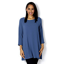 Yong Kim Stretch Crepe 3/4 Sleeve Panelled Swing Tunic