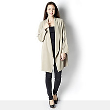 Centigrade Drape Front Jacket with Slot Pockets
