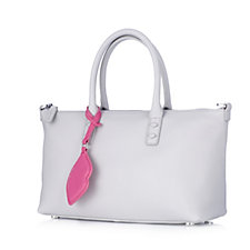Lulu Guinness Small Frances Grainy Leather Tote Bag with Detachable Strap