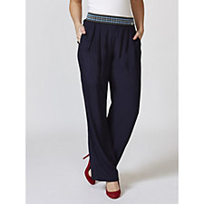 L'Officina della Moda Trousers with Decorative Elastic Waist