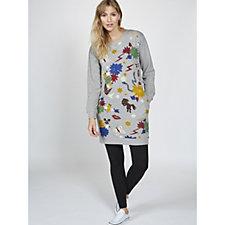 Derhy Applique Sweater Tunic Dress