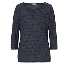 Betty & Co Spotted Line Design 3/4 Sleeve  Knit Top