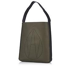 Amanda Wakeley The Jovi Leather Monogram Hobo Bag
