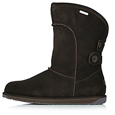 123981 - EMU Charlotte Waterproof Sheepskin Boots with Button Detail