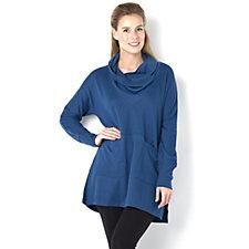 The Lisa Rinna Collection Knit Shawl Collar Tunic