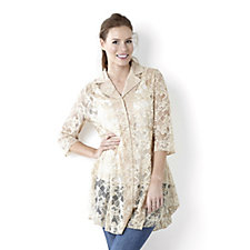 Floral Lace Shirt by Michele Hope
