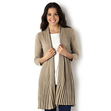 Ronen Chen Pleat Knit Swing Cardigan