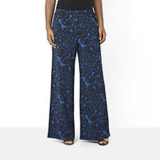 Bob Mackie Lace Print Pull On Trouser